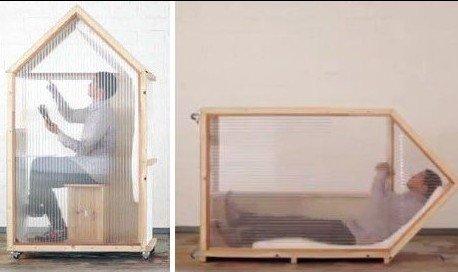 外自制可移动1平米住宅
