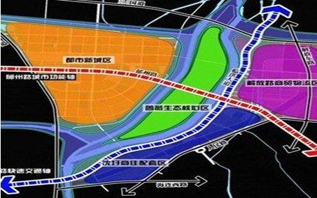滨河新城规划图高清图片