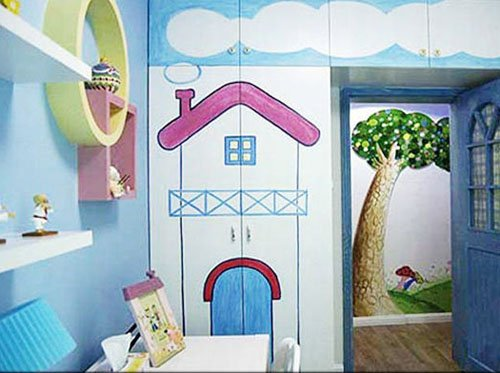 童趣简约风 8款儿童房手绘背景墙装修