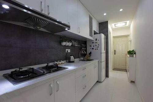 一字型厨房装修效果图 轻松解决厨房收纳问题