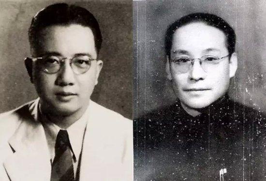 潘汉年电视剧视频_秦邦礼(左),潘汉年(右)