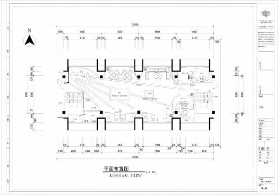 九洲国际售楼部平面图