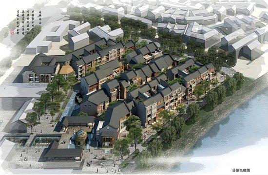 窑埠古镇手绘图