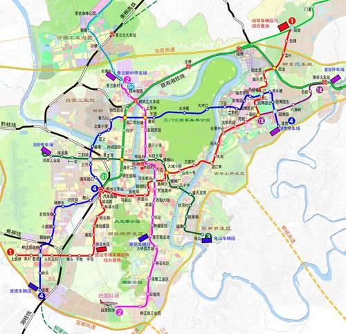 柳州城市轨道交通站点公布啦,看看离你家近咩?