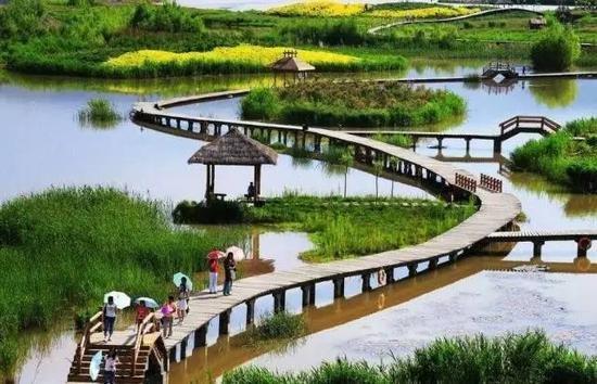 """柳北建""""千亩湖"""" 生态零距离"""