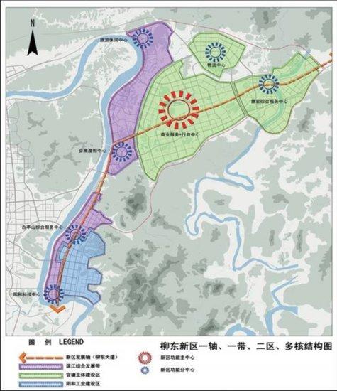 柳东新区结构图
