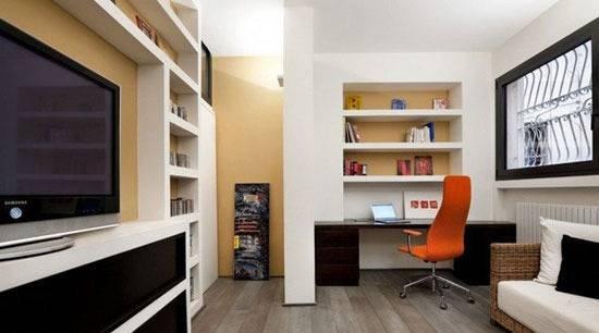 小房间大客厅 打造无法忽略的电视机墙装饰