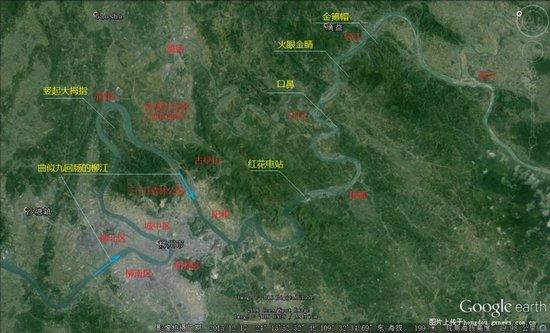 图二:大圣归来之柳州卫星地图(标注)图片