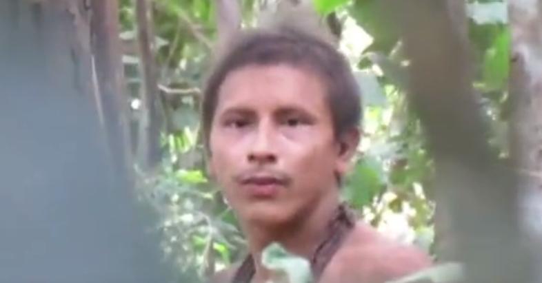 罕见£¡亚马逊原始人露清晰正脸