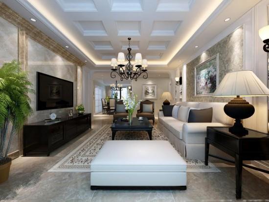 客厅比较长 怎么装修 巧用隔断让客厅不在空空