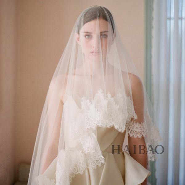 盘点最in的新娘头纱款式