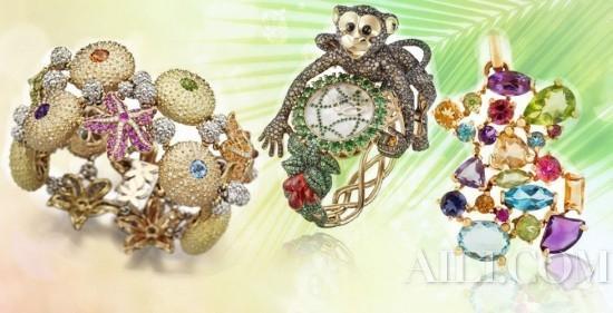 创意珠宝独特设计 色彩斑斓引人入胜(组图)