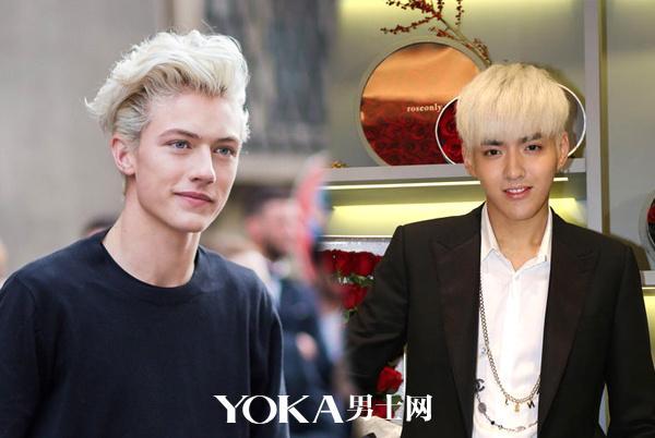 漂白发型   白色的发色过于前卫图片