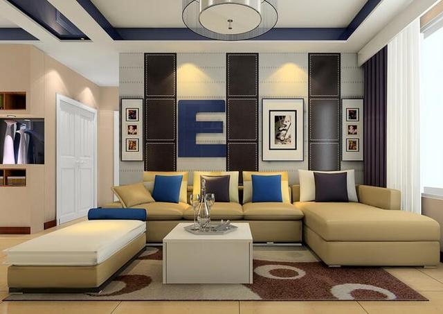 沙发墙装修效果图 这样的沙发墙装修你会打几分