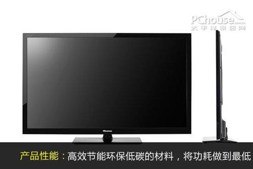 海信led42k200液晶电视外观上采用经典的超窄边框设计,融合led精薄