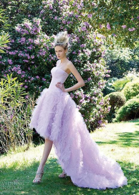 甜美的公主裙婚纱 做个梦幻新娘
