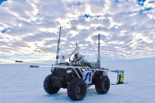 沈阳产机器人南极探冰 25天行走200多公里
