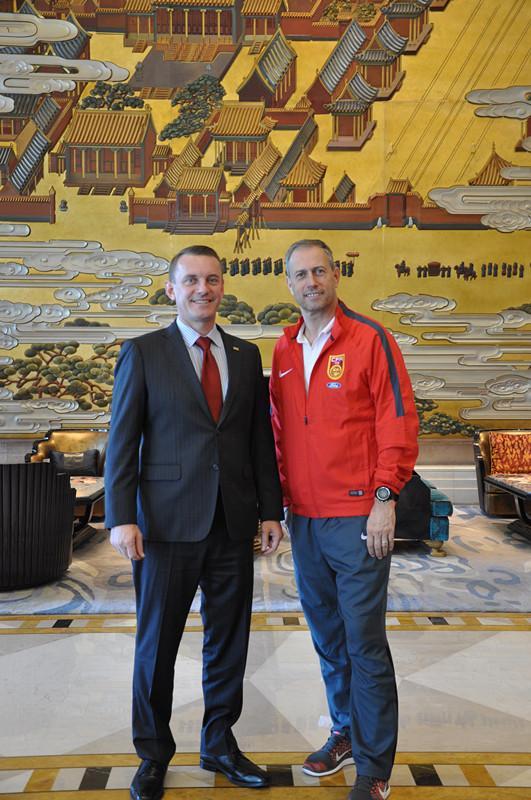 中国国家足球队下榻沈阳万达文华酒店