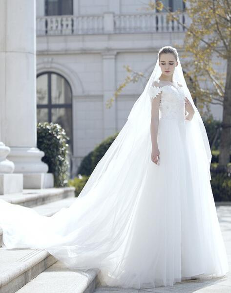 小拖尾婚纱照片_安庆婚纱照 适用不同场合的拖尾婚纱