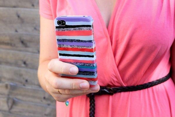 抹���k��f�y��yim����yz_别那么麻烦,家中用剩下的指甲油涂涂抹抹你看这么一款横条纹彩色手机