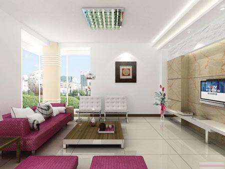 简约风格客厅装修效果图 打造清爽家居