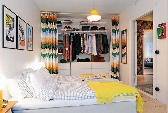 为方正的小户型卧室设计的方正衣帽间