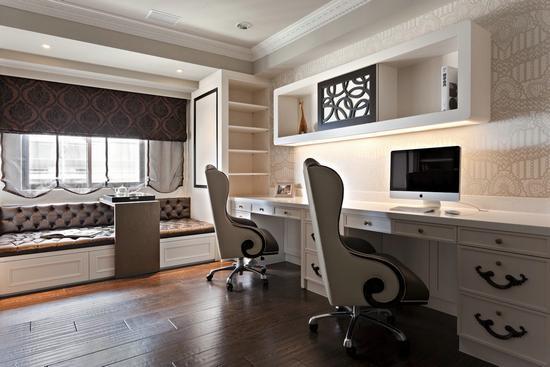 客厅开放式书房效果图-冬日暖居生活 最经典英式风格大户型图片