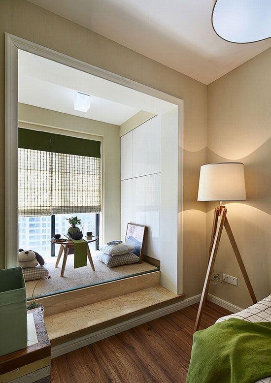 日式美式混搭 文艺夫妻的简约清新婚房