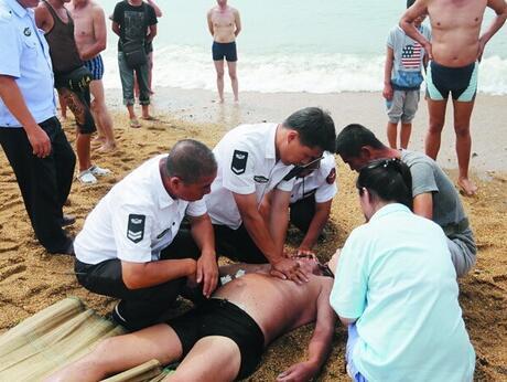 一天内两六旬老人海边游泳溺水身亡