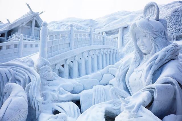 大受欢迎的动漫角色的巨大雪雕 札幌冰雪节大特辑