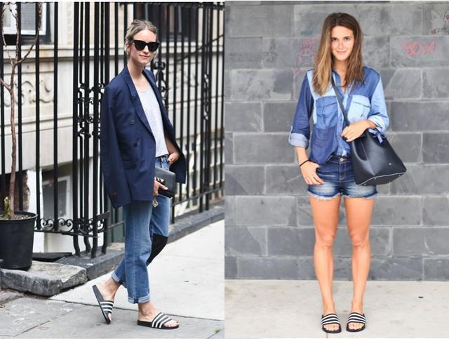 能把这双充满争议的拖鞋穿得好看才叫时装精