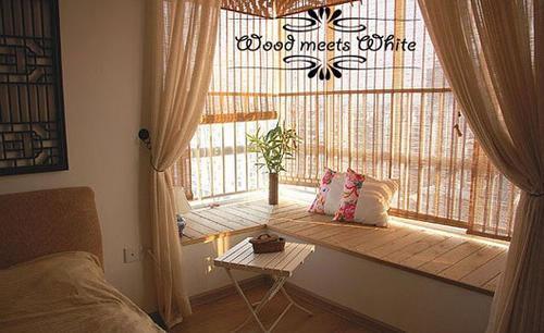 婚房飘窗装修效果图点评:原木飘窗设计