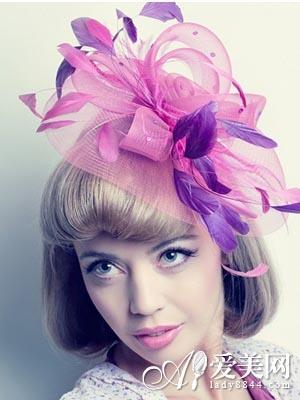 让大家带着最美的短发新娘发型出嫁.图片
