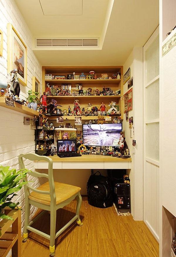 书房变身藏宝室 70平美式乡村温馨小窝