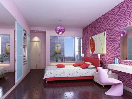 90平米小户型浪漫卧室装修效果图图片