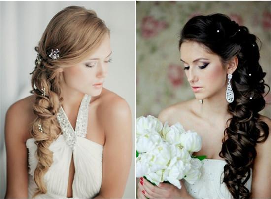 浪漫耀眼长发新娘发型