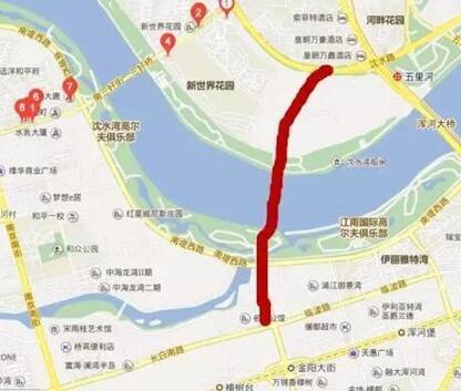 东塔桥,沈辽快速路,四环棋盘山隧道,沈康连接线和12条连接线.
