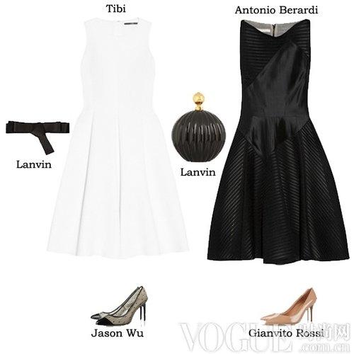 Tibi白色连身伞裙,价格:3259 cny
