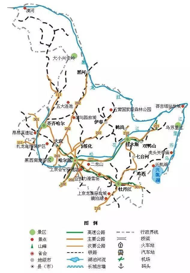 史上最全国内旅游地图精简版 再也不愁去哪玩了 大辽网 腾讯网