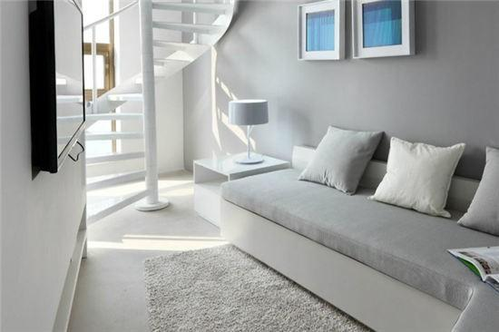 欧式白色小公寓 干净明亮艺术品格