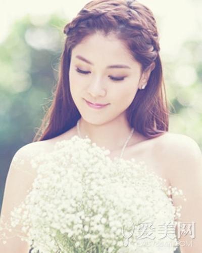 韩式新娘编发发型图片 打造清纯魅力