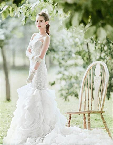 韩式婚纱照新娘造型图片 优雅梦幻图片