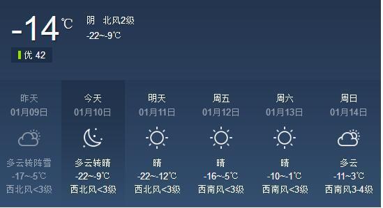 """""""三九""""贼冷!辽宁今日半数地区降温至-20℃以下"""