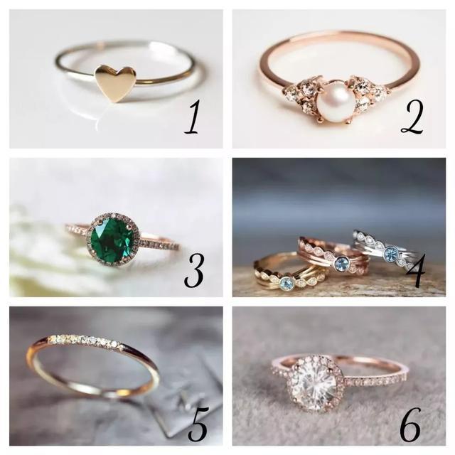 准!6枚戒指选一枚,一秒测出你的心理年龄!