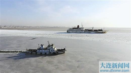 大连部分海域冰情严重 海冰面积16737平方公里
