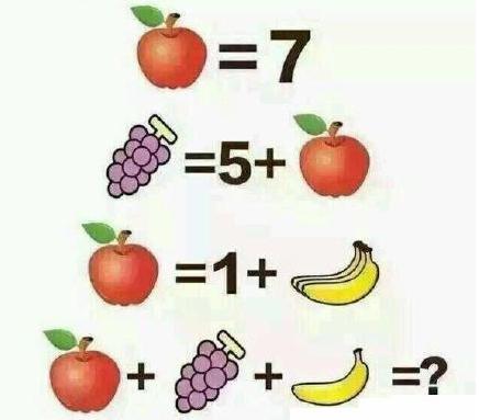 4道小学生算术题,看看你能答对几个?