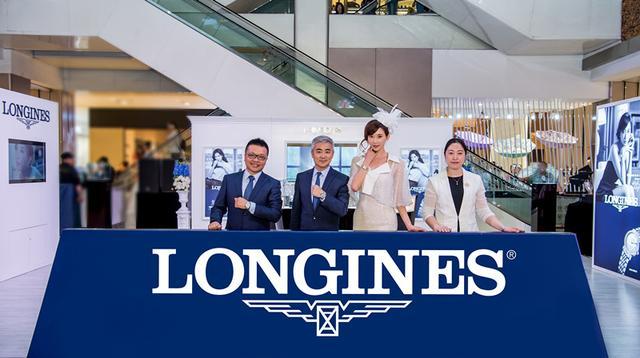 优雅形象大使林志玲亮相哈尔滨 为浪琴新店揭幕