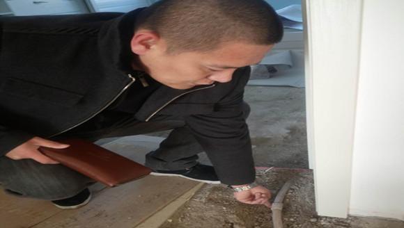 新房漏水楼下遭殃 20厘米地热管两处接头惹的祸