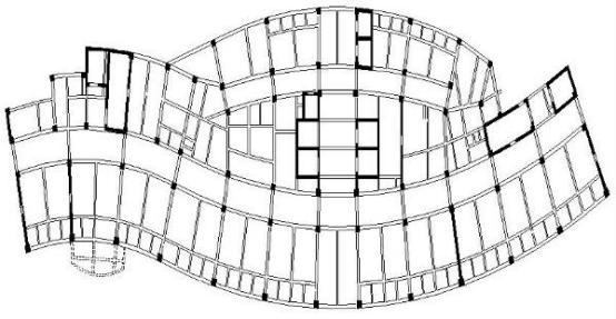 设计;探讨 现代城市的高层建筑物大多都应用框架剪力墙结构形式.
