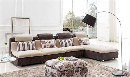 简约更百搭 12款网上热卖转角布艺沙发图片